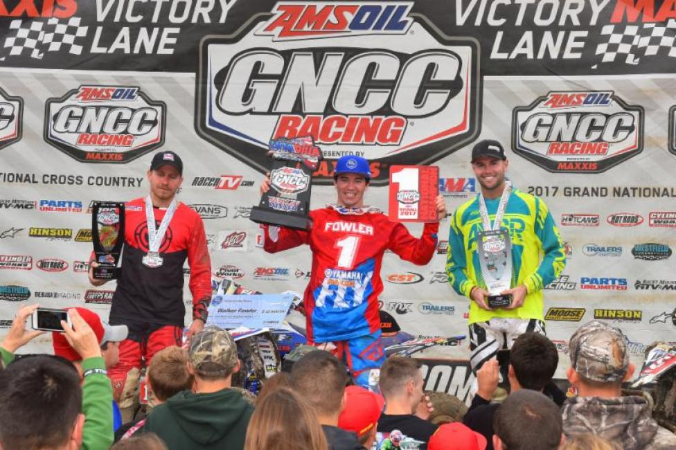 Neal joins 2017 XC1 Pro ATV Champion Walker Fowler atop the podium.