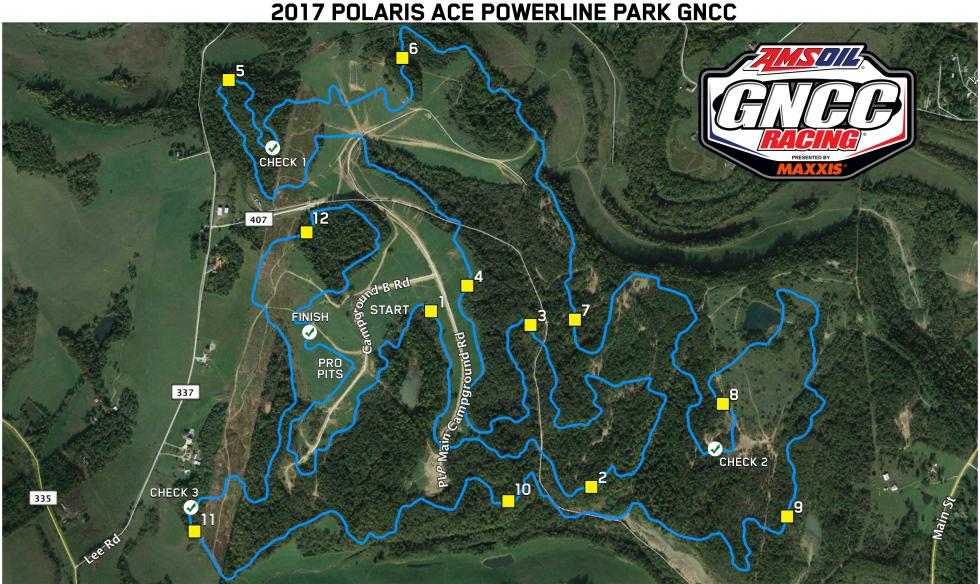 Powerline Park Track Map