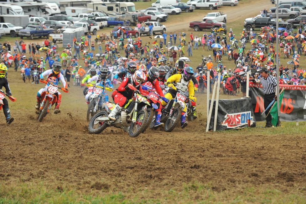 Grant Baylor shot off the line to win the $250 All Balls Racing Holeshot Award.