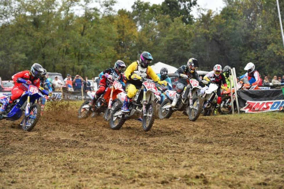 Grant Baylor had a great race from the start, claiming the holeshot off the front row.