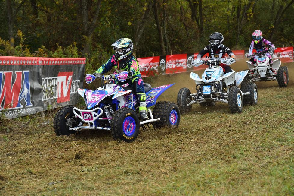 Sadiee Gorrell shot out to the early lead with the holeshot on Saturday morning.