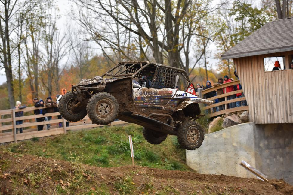 With only a half a lap to go, Walker Fowler's UTV race ended early due to a mechanical issue.