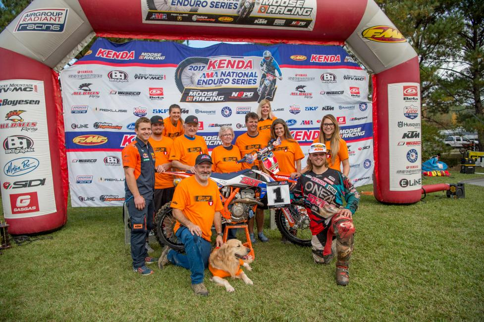 Steward Baylor earned his second AMA National Enduro title this past weekend in Alabama.