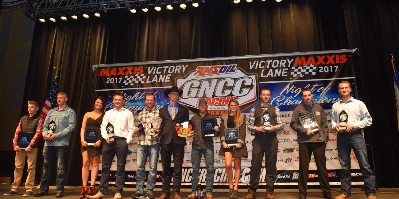 GNCC Recognizes Top Racers and Sponsors at 2017 Awards Banquet