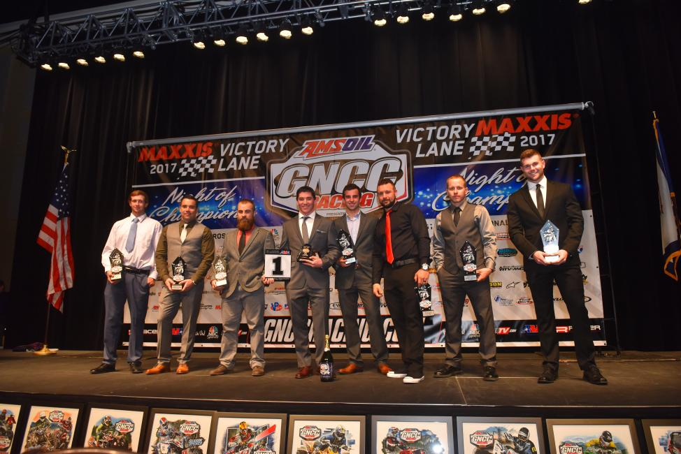 The top-10 overall ATV riders were recognized on Friday night.