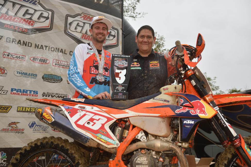 Russell Bobbitt claimed his first GNCC podium at Powerline Park in 2017.