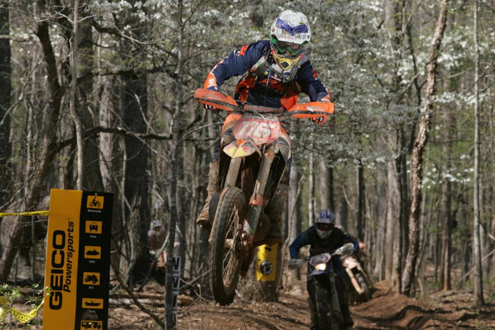 Nate Kanney styles over the Big Buck creek jump in 2008.