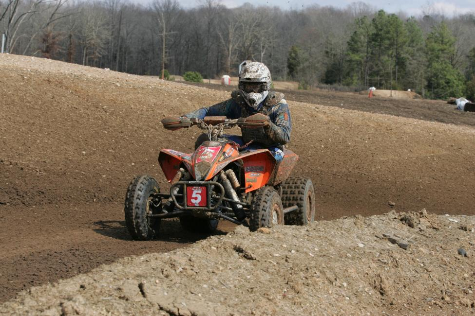 Adam McGill on his way to the 2008 General GNCC win.