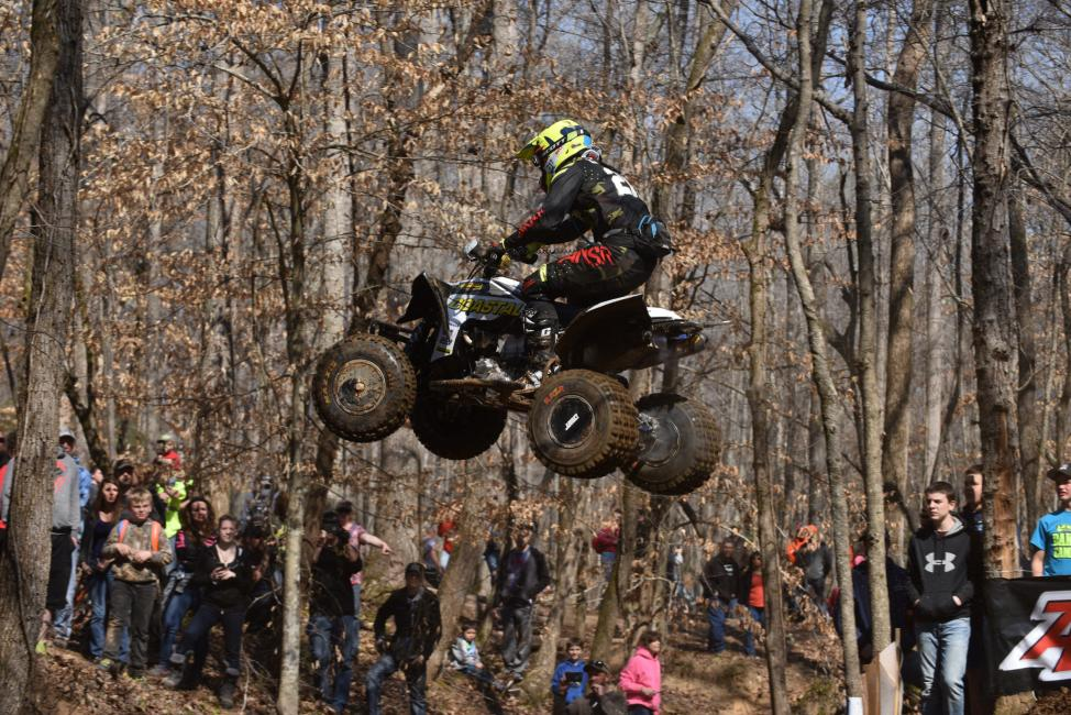 Landers started out racing GNCC on a dirt bike, but in late 2010 he made the switch to race ATVs.