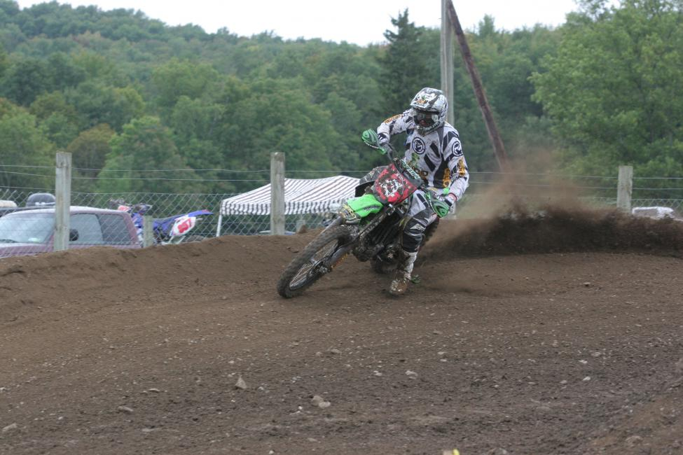 Jimmy Jarrett works his way around the motocross track at Unadilla on the way to the 2010 Unadilla GNCC win!