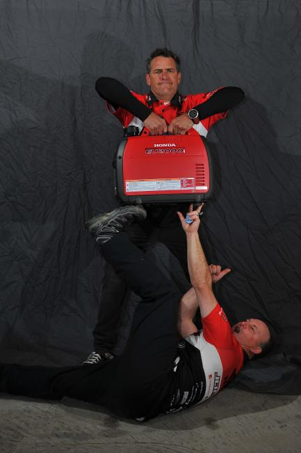 Having spent a number of years working with the JCR/Honda crew, Eric and Johnny Campbell know how to balance work with a little bit of fun!