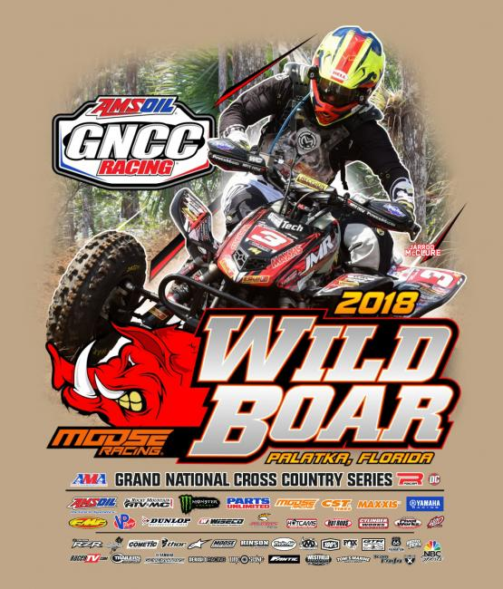 Jarrod McClure is pictured on the ATV event shirt.