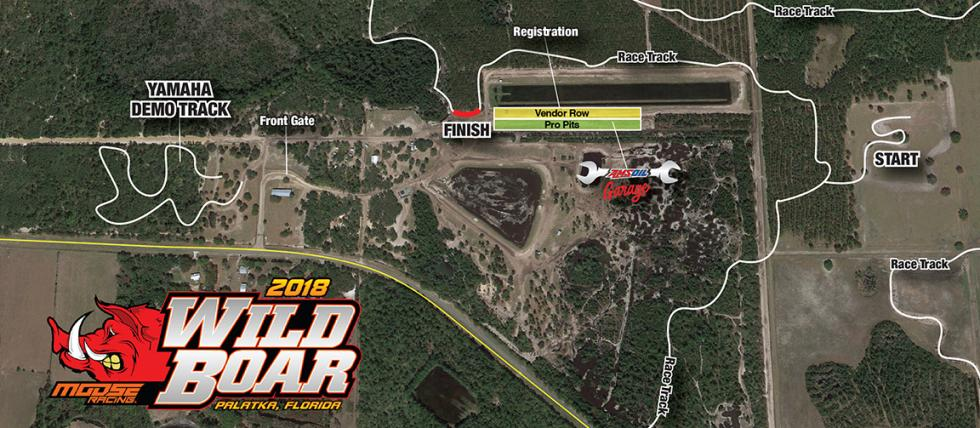 2018 Wild Boar Facility Map