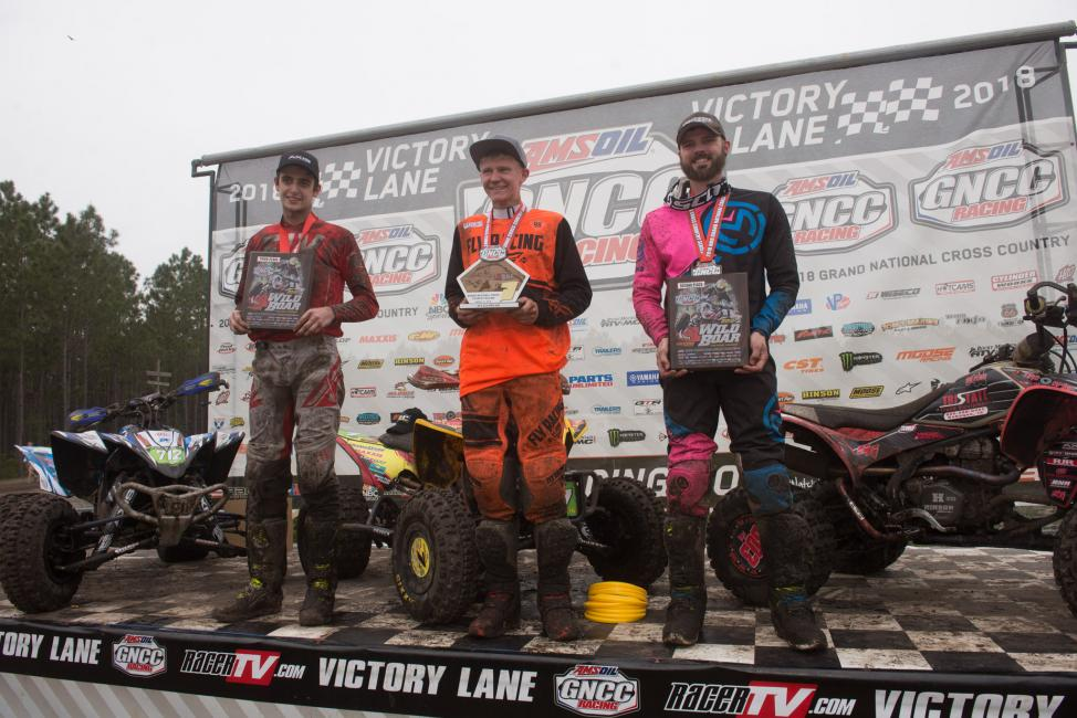 Hunter Hart (center), Matthew Lindle (right) and John Glauda Jr rounded out the XC2 Pro-Am class podium.