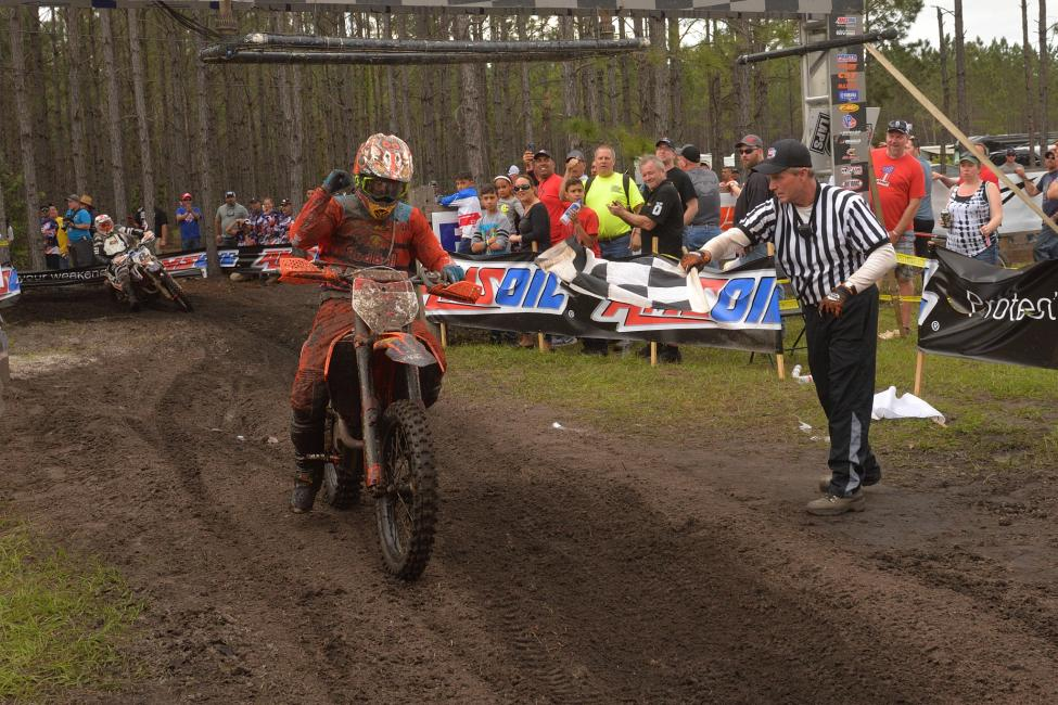 Kailub Russell took home the win at the Moose Racing Wild Boar GNCC, round two in Palatka, Florida.
