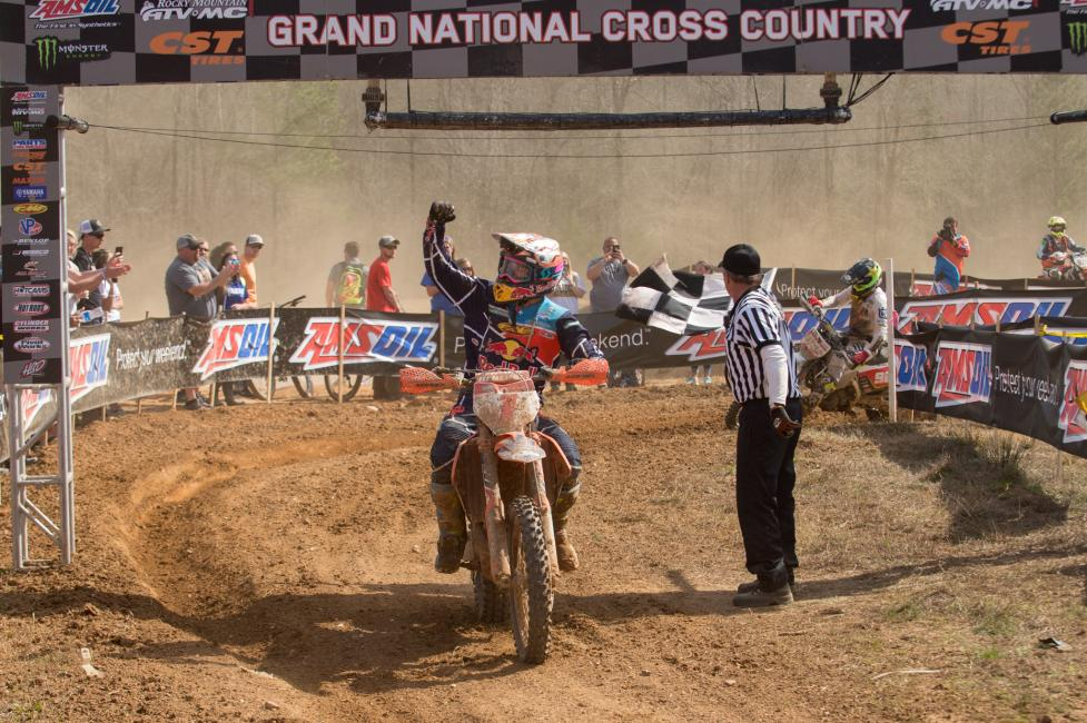 Kailub Russell earned his third-straight win at The Maxxis General GNCC in Washington, Georgia.