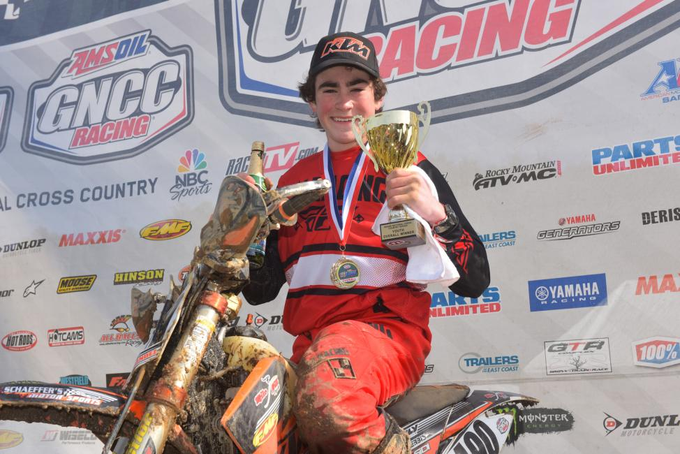 Max Fernandez earned the youth overall win at this year's FMF Steele Creek GNCC.