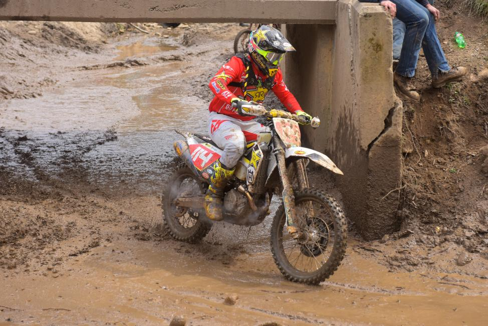 Rockstar Energy Husqvarna Factory Racing's Josh Strang rides to a strong fifth place position at the FMF Steele Creek GNCC.