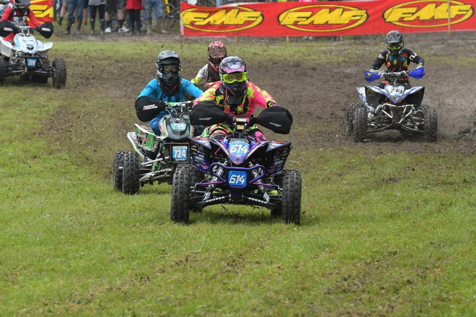 Sadiee Gorrell pulled the holeshot in the ATV WXC race on Saturday morning.