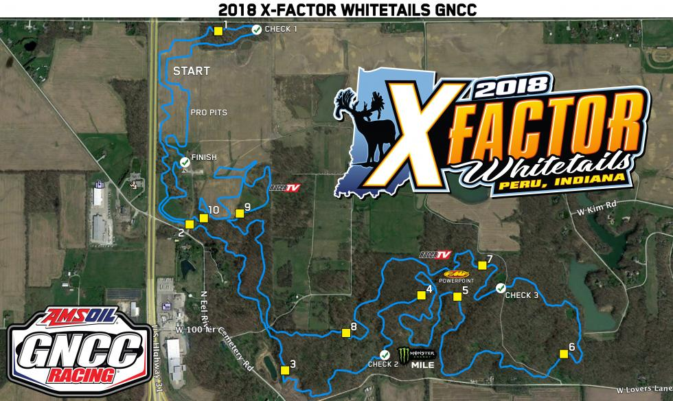 X Factor Whitetails Track Map