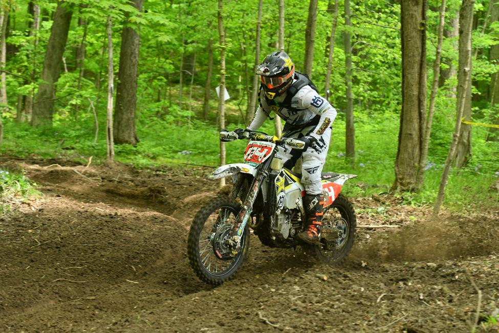 Rockstar Energy Husqvarna Factory Racing's Josh Strang rides to a strong sixth place position at the X-Factor GNCC.