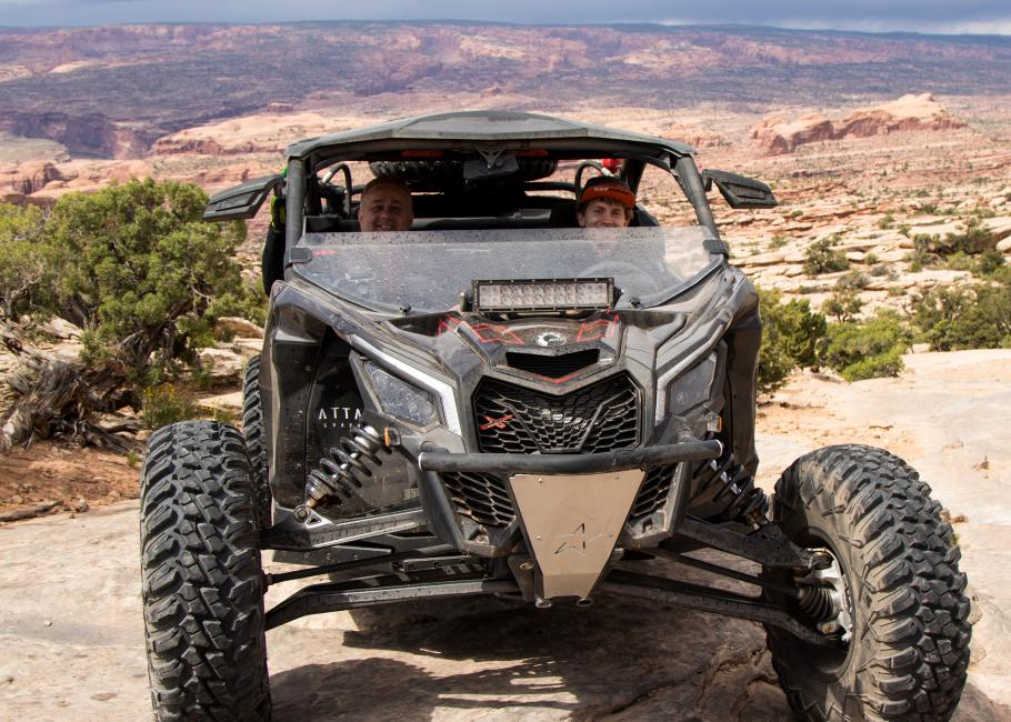 Dwight Pollard and his dad had a blast cruising through the desert thanks to the Rocky Mountain ATV/MC crew.