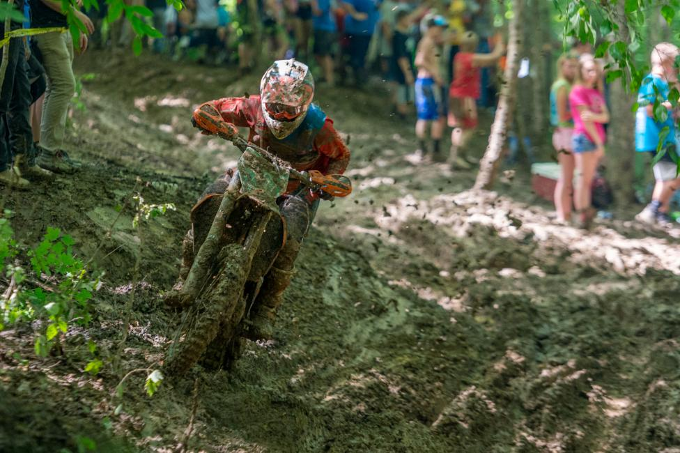 Ben Kelley with a strong ride in the Ohio mud on his KTM 250XC-F.