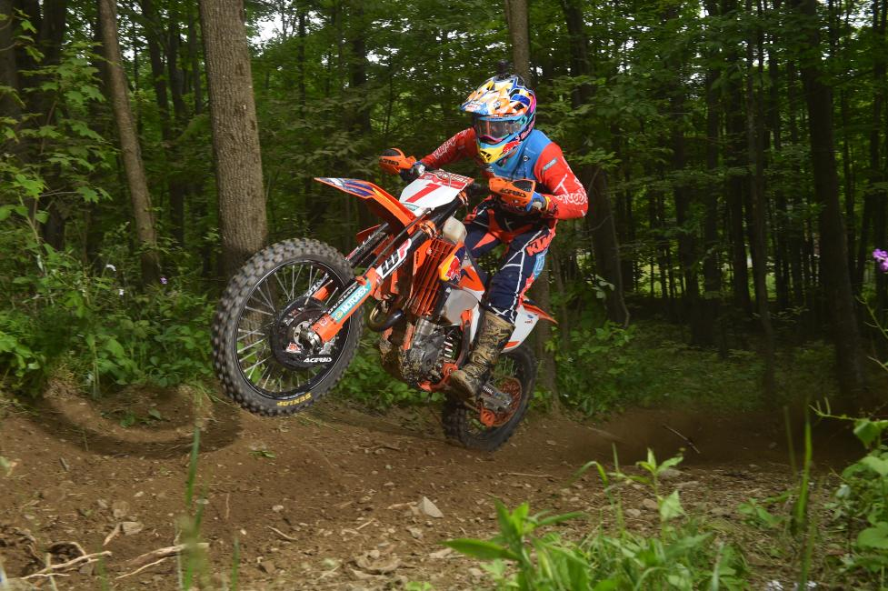 Kailub Russell earned his sixth win of the season, and his first-ever victory at the Dunlop Tomahawk GNCC.