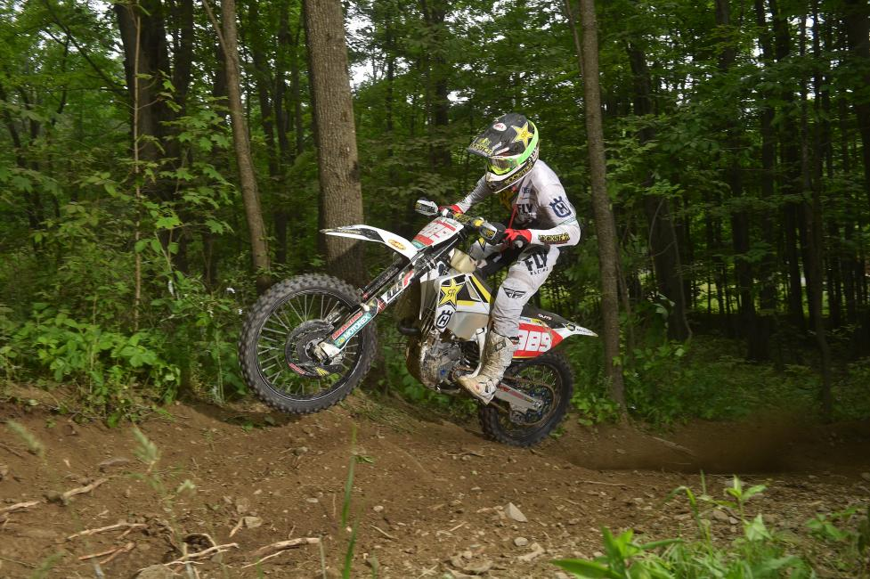 Rockstar Energy Husqvarna Factory Racing's Thad Duvall finishes third at the Tomahawk GNCC.
