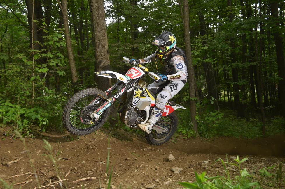 Rockstar Energy Husqvarna Factory Racing's Josh Strang races his FX 450 to a fourth place finish.