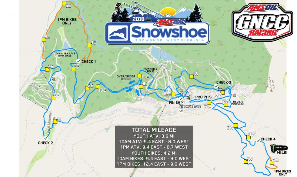 Snowshoe Mountain Resort Track Map