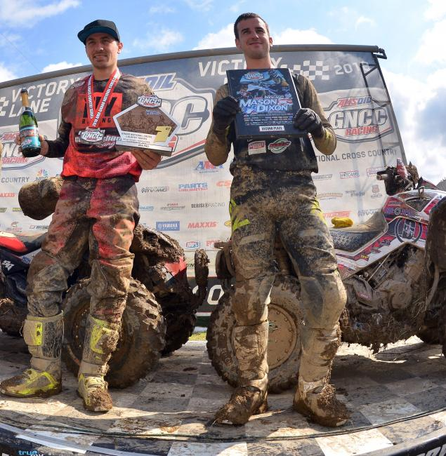 Can-Am swept the 4x4 Pro Class podium and three other amateur classes in Pennsylvania. Cunningham (left) and runner-up Landon Wolfe went 1-2 in the 4x4 Pro Class.