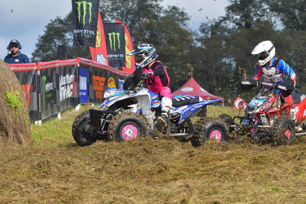 Traci Pickens got a good jump off the line earning the WXC ATV holeshot.