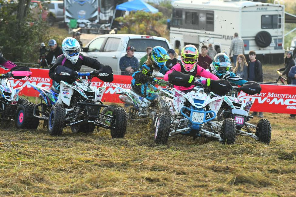 The girls youth ATV class rocketed off the starting line at 8 a.m. on Saturday.