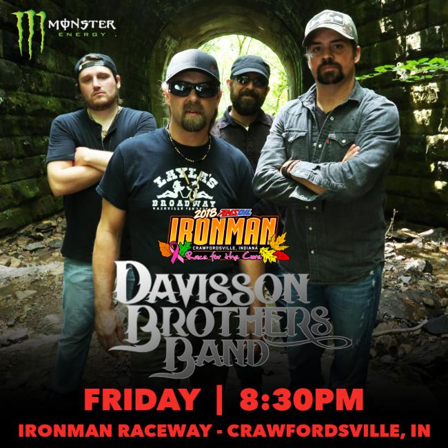 The Davisson Brothers Band will light up the stage Friday, October 26.
