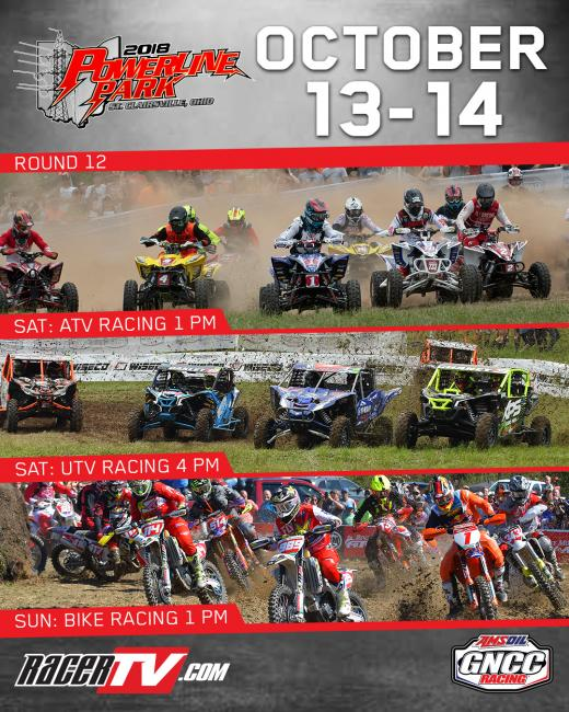 Tune in to RacerTV.com this weekend for GNCC LIVE!