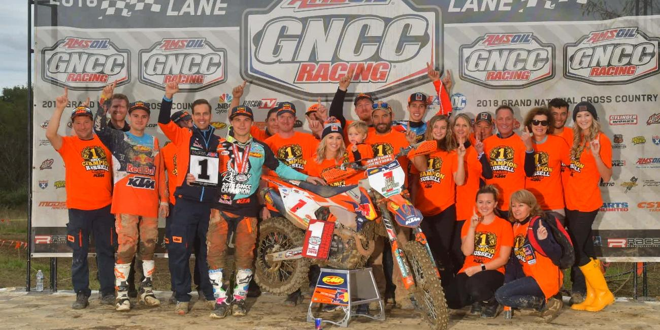 Kailub Russell Earns Sixth-Consecutive GNCC National Championship at Powerline Park