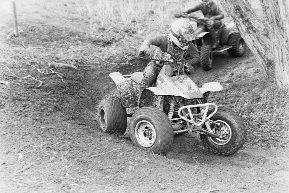 That's Mike Holbert working his way around the 1989 Fireball 100 GNCC course.