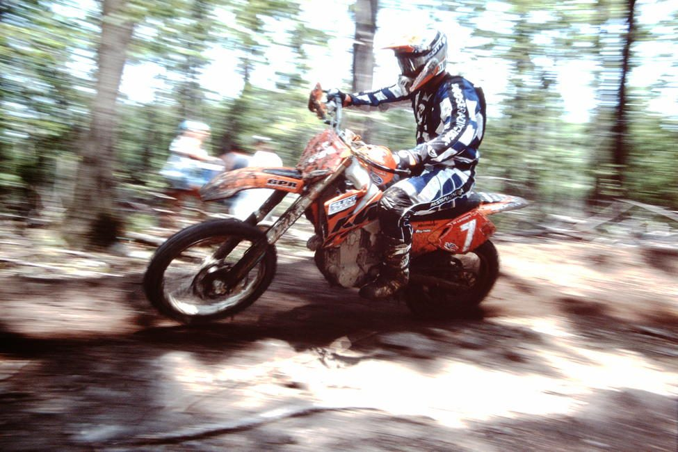 Mike Lafferty made his mark as an eight-time AMA National Enduro champion, but he did pretty well at GNCC events as well. Here he is at the 2003 Wisp GNCC.