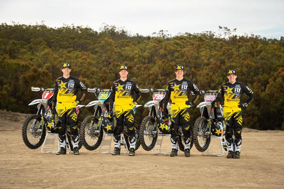 Introducing the 2019 Rockstar Energy Husqvarna Factory Racing Off-road team, Colton Haaker, Andrew Short, Thad Duvall, and Trevor Bollinger.
