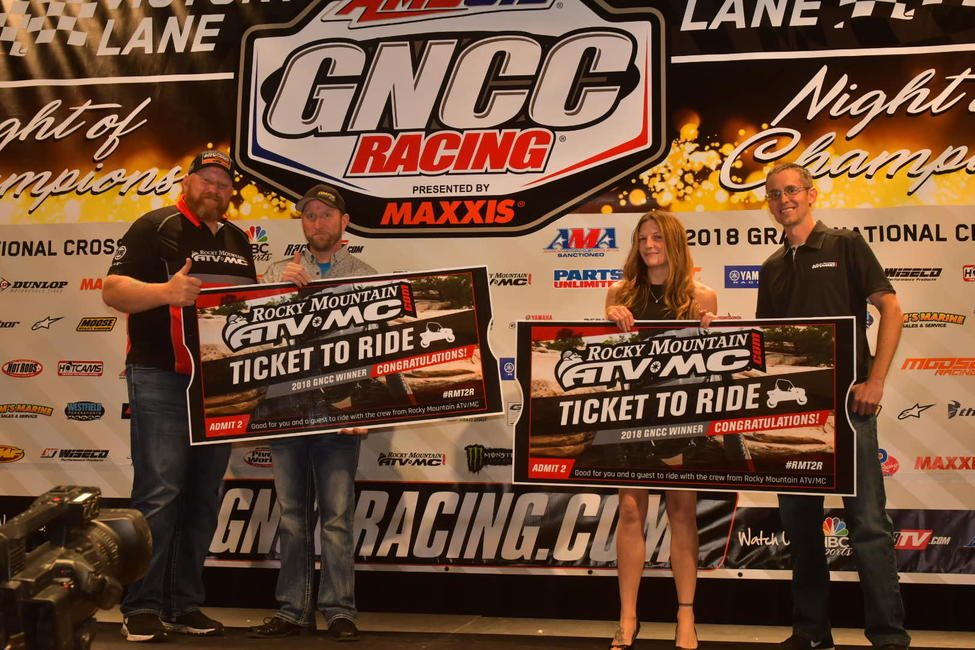 GNCC Racing Recognizes Top Racers and Sponsors at 2018