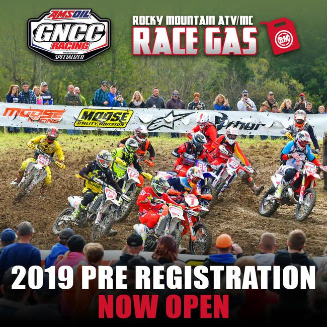 Click HERE to pre-register for any 2019 GNCC event.