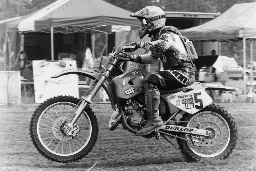 Check out the Ninja Turtles graphics! That's Tommy Norton at the Manchester State Forest GNCC in 1994. That event was held at the riding park down the road from where the Sumter Enduro is held and many times in the past the Sumter Enduro course has made its way onto the riding park property.