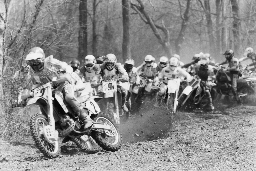 Here's some start action from Loretta Lynn's in 1990. #2 is Kevin Brown, 9N is Scott Plessinger and there's a slew of other guys in there as well!