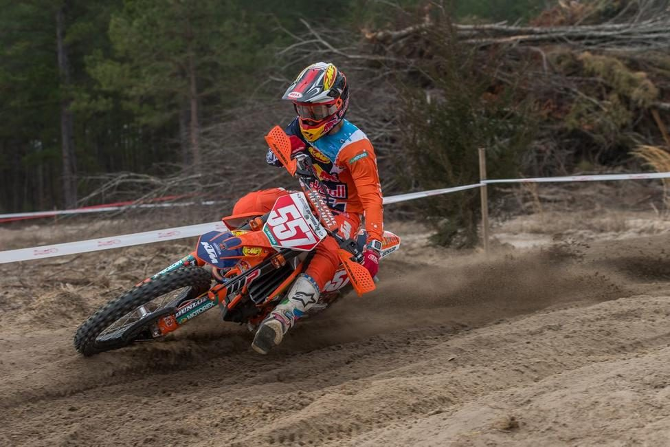 Kailub Russell earned the first victory of the season at South Carolina's Full Gas Sprint Enduro.
