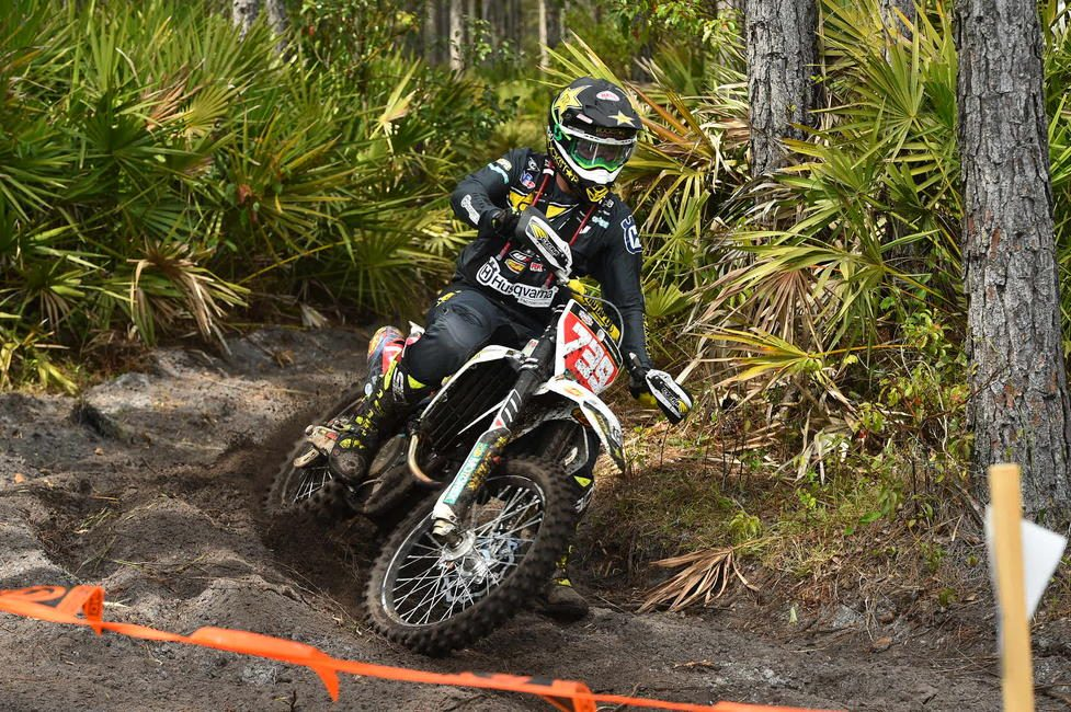 Rockstar Energy Husqvarna Factory Racing's Trevor Bollinger finishes fourth in XC1.