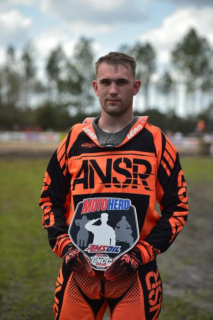 Zachary Rohr was nominated as the AMSOIL Moto Hero for the Moose Racing Wild Boar GNCC