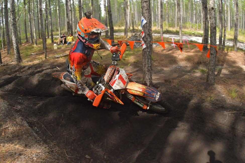 Kailub Russell came through second overall at the GNCC opening round.