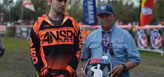 AMSOIL Moto Hero Award Presented to Zachary Rohr at Wild Boar GNCC