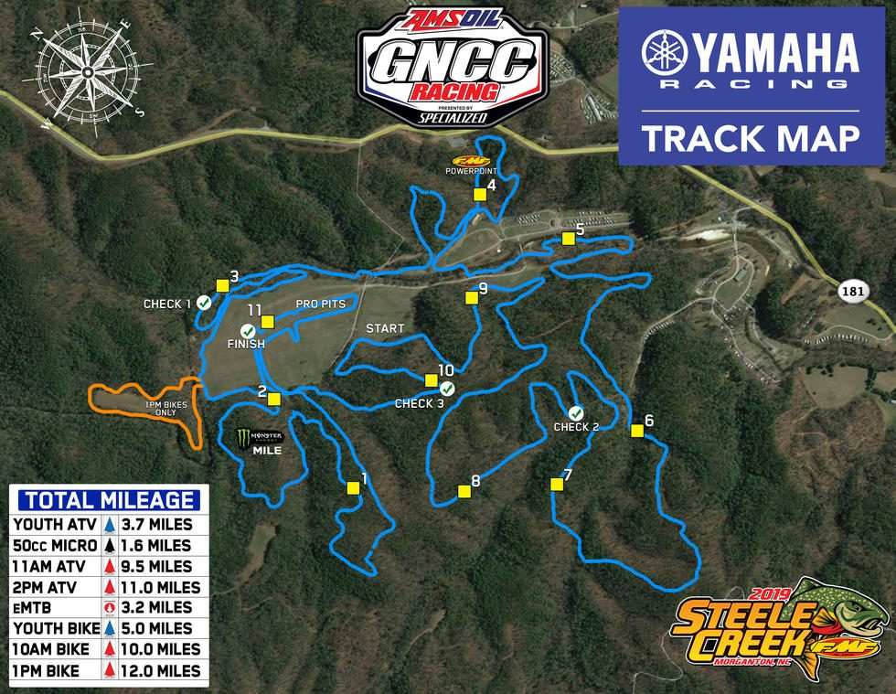 Steele Creek Campground Track Map